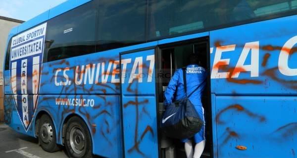 autocar vandalizat