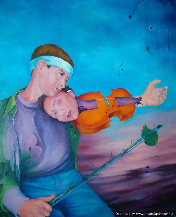 Cântec de dragoste ulei pe pânză 90 / 72 cm 2003 Colecţie particulară necunoscută