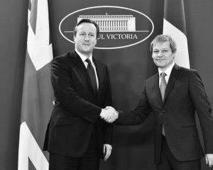 Întâlnire la nivel înalt  Prim-ministrul Regatului Unit al  Marii Britanii și Irlandei de Nord, domnul David Cameron cu  Președintele României, domnul Klaus Iohannis și cu  Primul-Ministru Dacian Cioloș